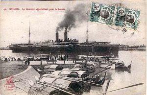 mailboatleavingsaigonforfrance1920
